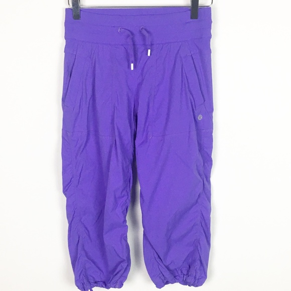 52cd8e9e553c88 lululemon athletica Pants | Lululemon Purple Dance Studio Crop Size ...